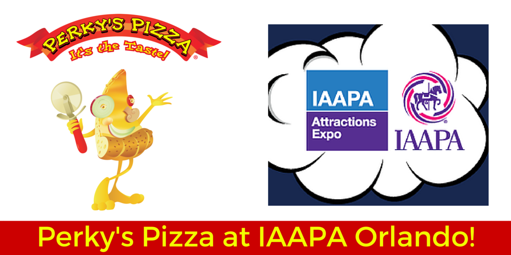 Perky's Pizza at IAAPA Orlando!