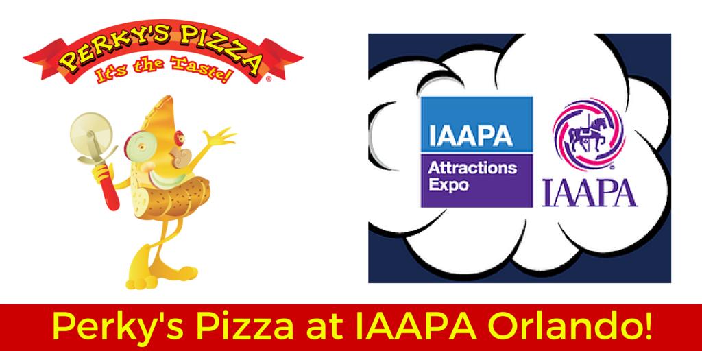 Perky's Pizza at IAAPA Orlando!